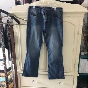 American eagle 16 short skinny kick jeans